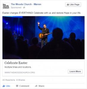 church facebook advertising