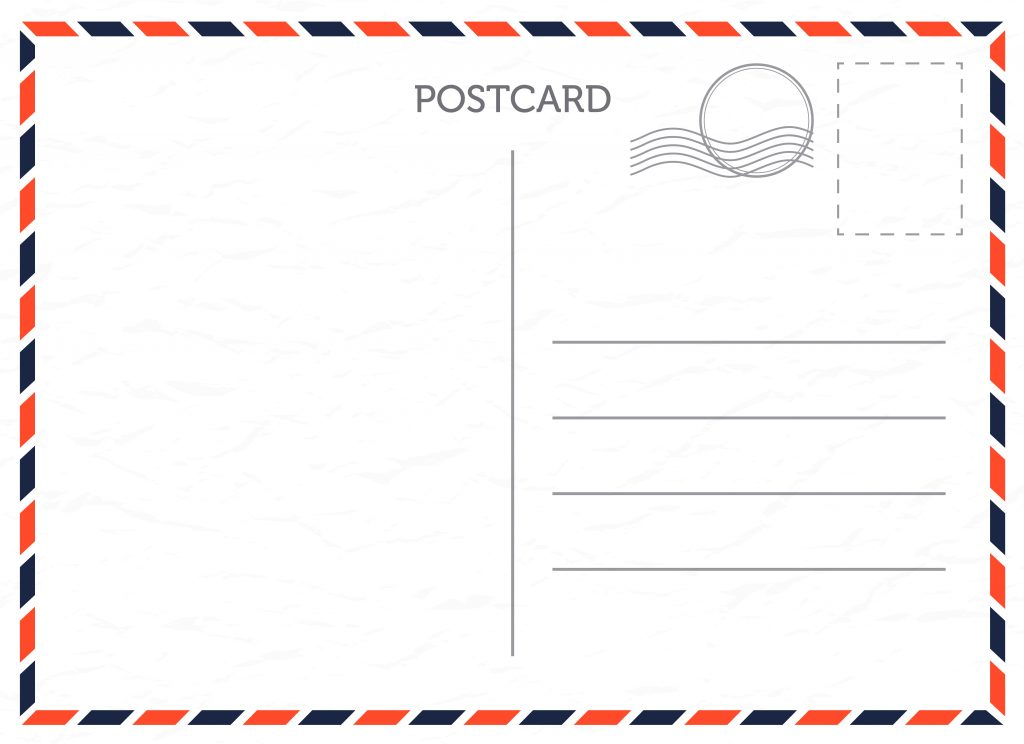 Шаблон почтовые открытки
