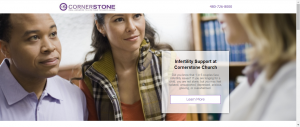 church landing page library infertility support