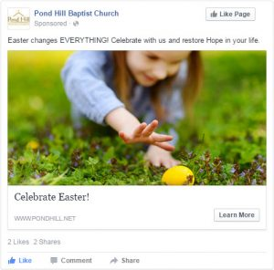Online Church Event Promotion