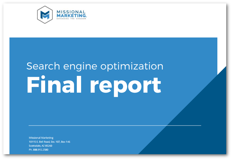 Church Website SEO report