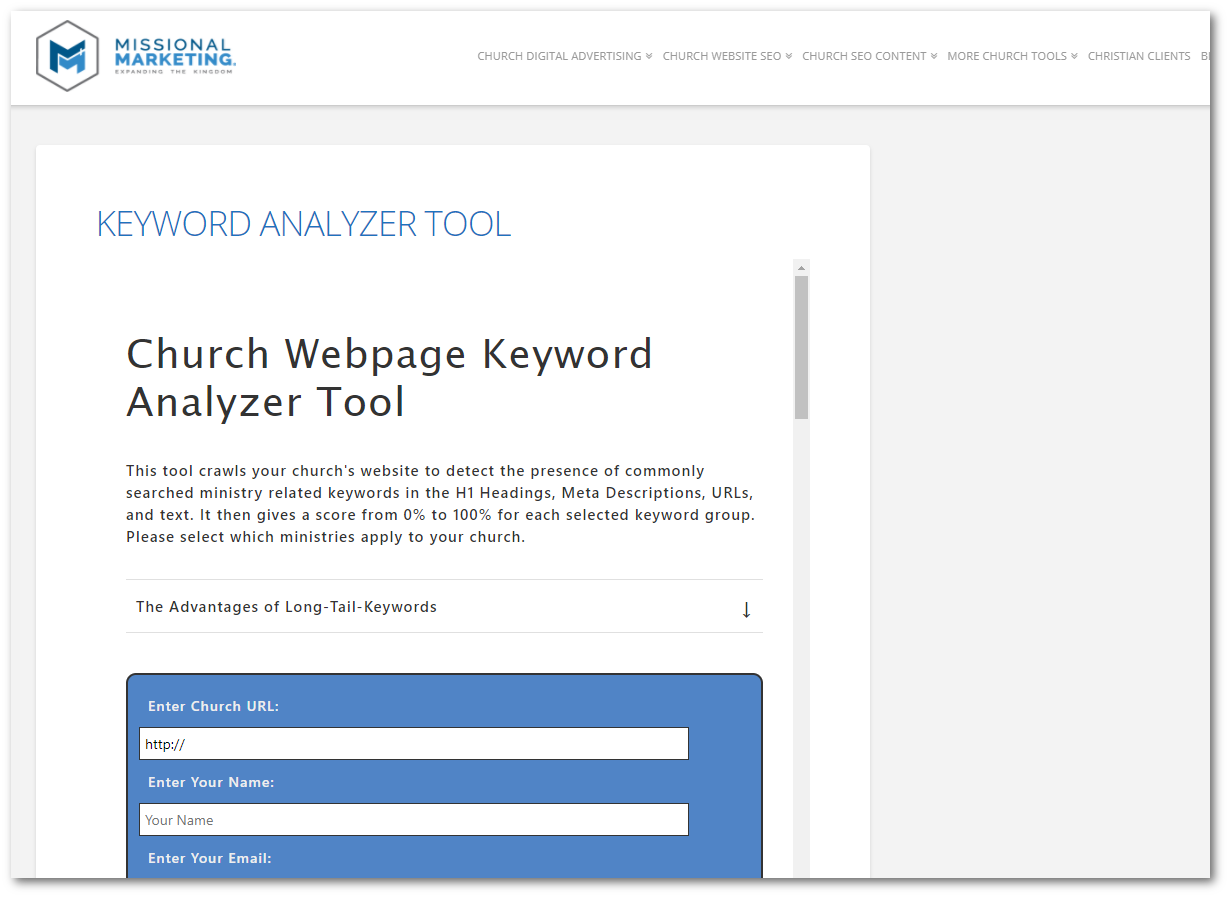 Keyword Analyzer Tool