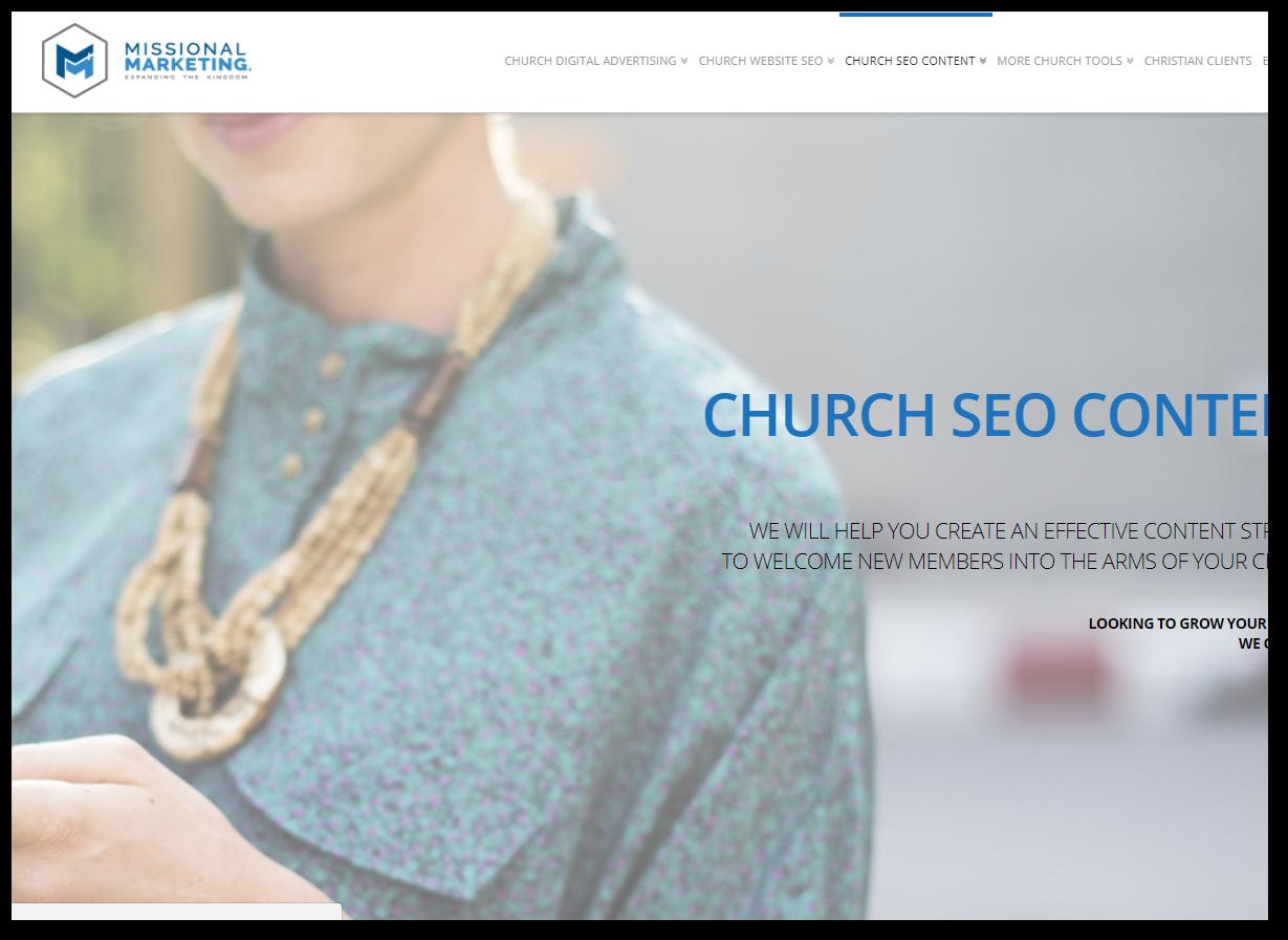 church seo content