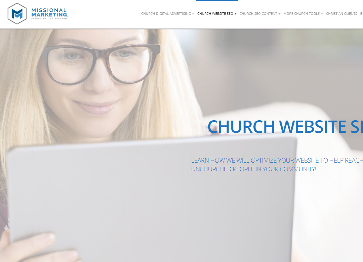 church website seo