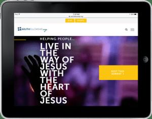 Website Development on Tablet