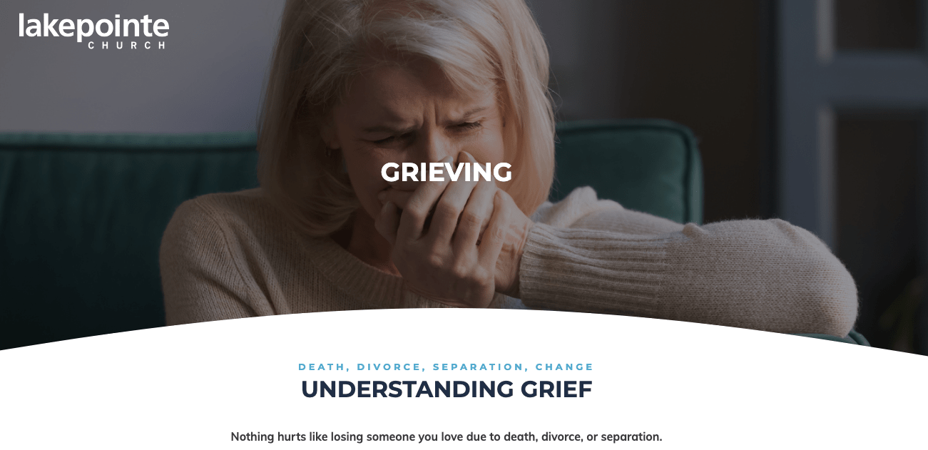 Example Grief Landing Page