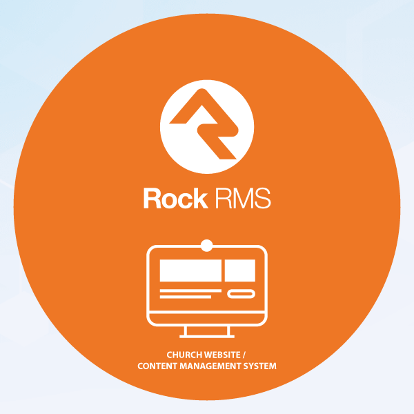 ROCK RMS removes the gap between Church Management System and church website Content Management System