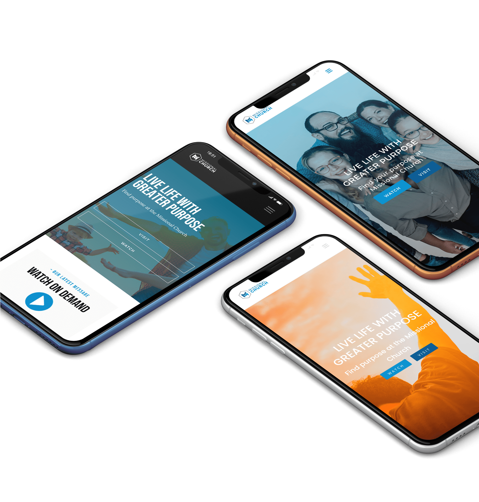Mobile Ready-Made Church Website Examples