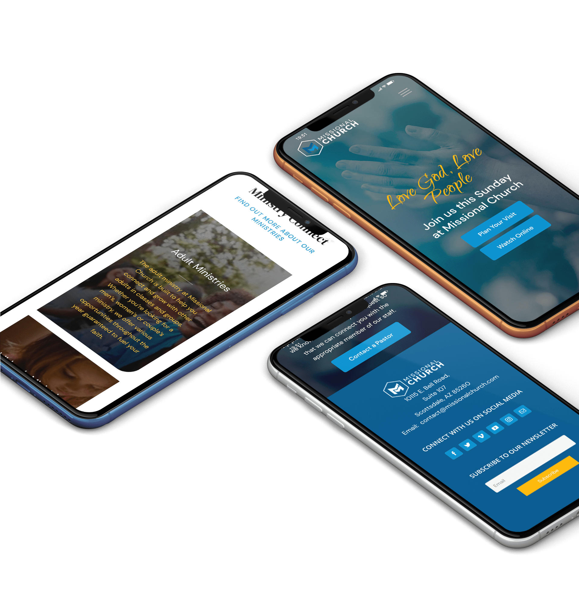 Mobile One-Page Church Website Examples